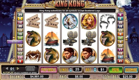 free casino games king kong