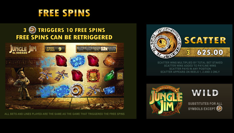 Jungle Jim El Dorado Bonus